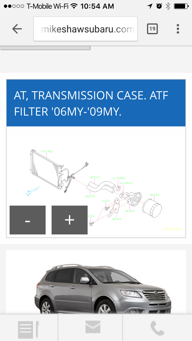 Automatic Transmission Filter Fit for 2005 Saab 9-2X 2006-2007 ...